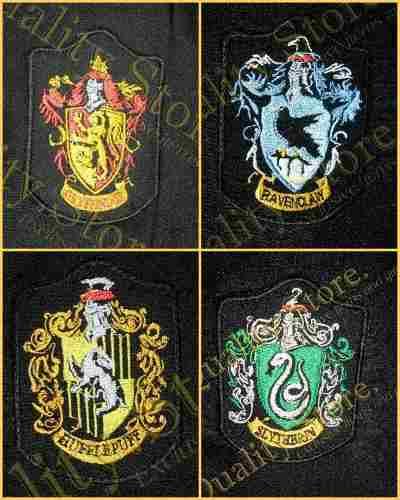 Parches bordados de las casas de hogwarts harry potter hp - Test de harry potter casas ...
