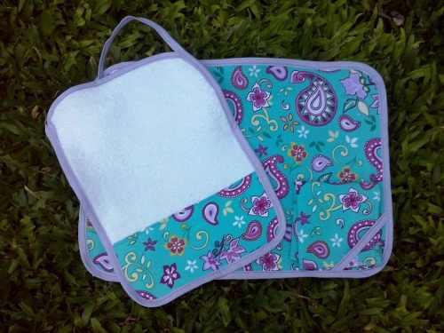 Set para jard n de infantes mantel servilleta y toalla for Azul naranja jardin de infantes