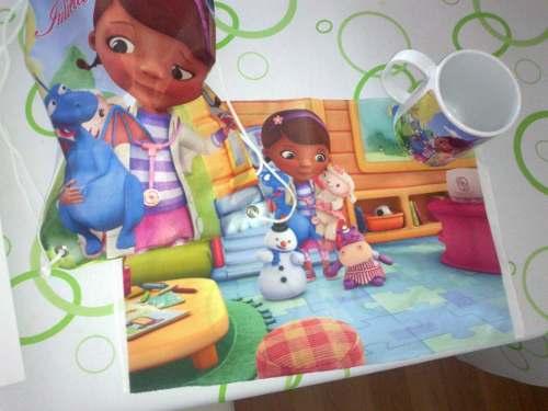 set de jardin doctora juguetes taza mantel servilleta
