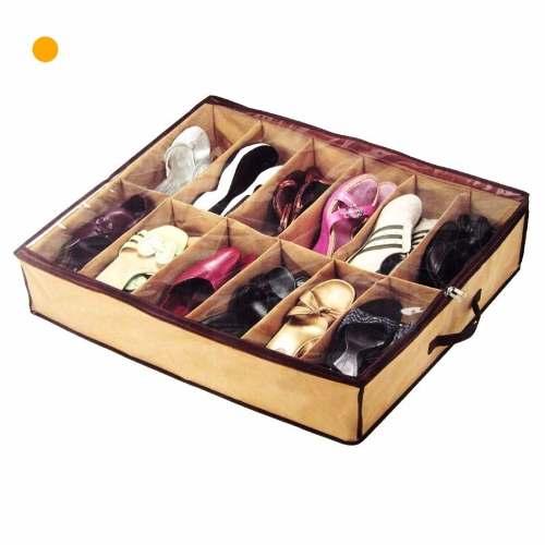 Organizador de zapatos 12 pares bajo cama o placard for Cama zapatero