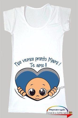 1b129cf65 Remera Futura Mama Embarazada Ecografía Bebe Personalizada » Mayorista de  ropa