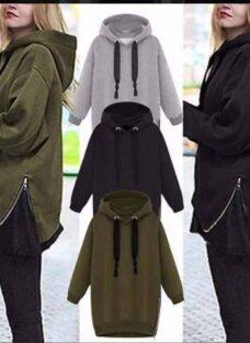 Buzo Largo Hoodies De Mujer Con Capucha