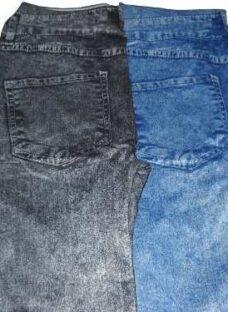 Calzas Simil Jean Negras Y Azules Por Mayor X 12 Unidades