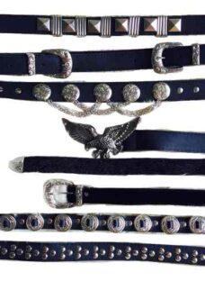 Cinturon Mujer Doble Hebilla Aguila Cadenas Vs Modelos Cinto
