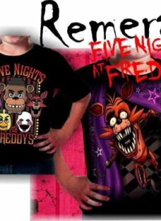 Remeras Full Five Nights At Freddy's Manga Corta Y Larga