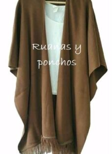 Ruanas Ponchos 6 Colores Con Flecos Abrigadas T Unico