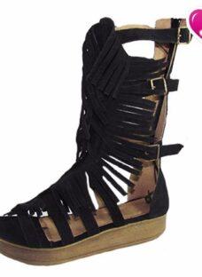 Sandalia Romana Gladiadora 5 Pulseras Cuero De Shoes Bayres