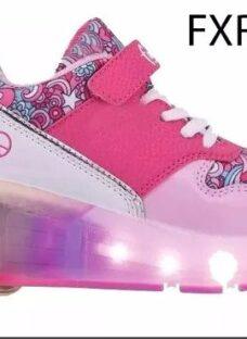 Zapatillas Con Rueda Nena Led Footy Original Mundo Moda Kids