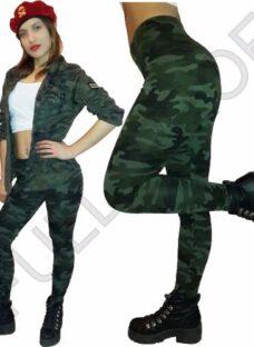 Calza Leging Chupin Camuflada Verde Militar O Negro Y Blanco
