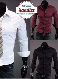 Camisa Hombre Entallada Vs Colores Slim Fit La Mejor Calidad
