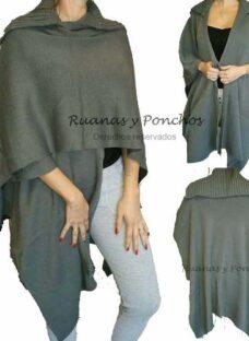 Distinguidas Ruanas Poncho Pashmina Cuello 5 Colors Grande