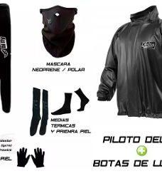 Equipo Termico Hifly Medias Mascara Guantes Piloto Y Botas