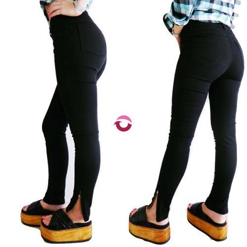 Jeans Mujer Tiro Alto Elastizados Chupin Negro Mujer Mayorista De Ropa