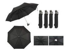Paraguas Mini Reforzado Cherry Negro /abre Automatico
