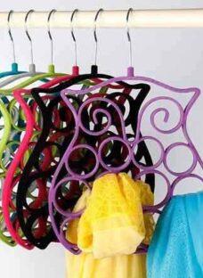 Percha Organizador Buho Para Pañuelos