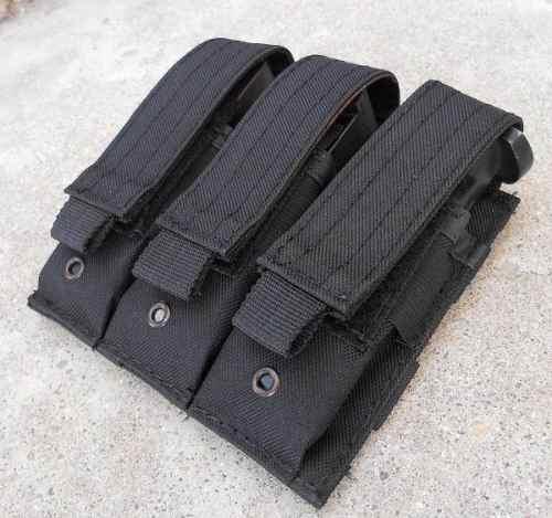 Porta Cargador Triple Para 9mm Tipo Blackhawk