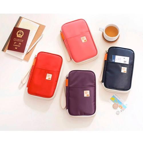 Porta Pasaporte Organizador Documentos Viaje