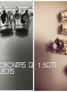 Souvenirs Dijes Coronitas-princesas Plateada O Dorada X 25u