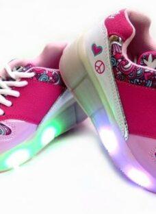 Zapatillas Con Rueditas Y Luz Led Nena 29-36 Footy Childrens
