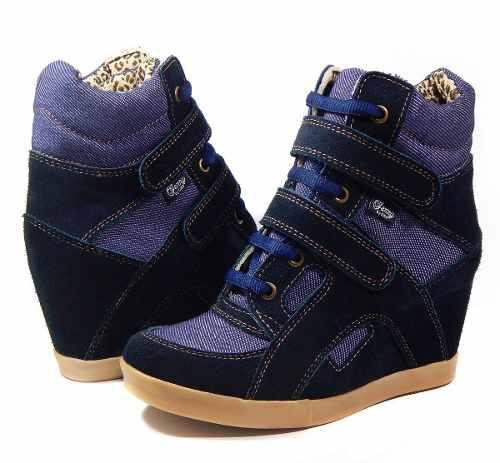 609513ce Zapatillas Cuero Botineta Taco Escondido Sneaker Ciro Art620 » Mayorista de  ropa