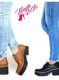 Zapatos Abotinados Botitas Botas Taco Bajo Mujer Otono 2017