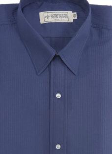 Camisa Hombre Vestir Labrada Cuello Fusionado.