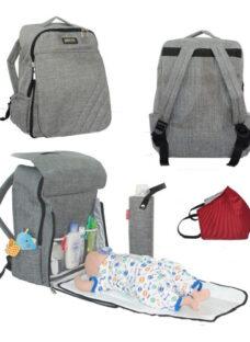 Mochila Maternal Unisex Papa Y Mama Marieta Store® Envio Gratis Incluye Cambiador Y Porta Mamadera Térmico Interno