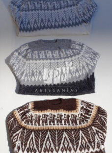Sweater - Modelo Hojas (lana - Alpaca - Llama)