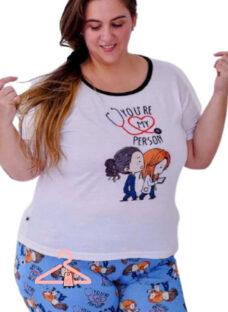 Pijama Verano Cortos Personajes Animados Varios Linea Curvy