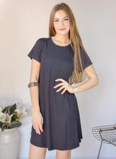 Vestido De Modal Manga Corta Vs Colores Talle S Al L