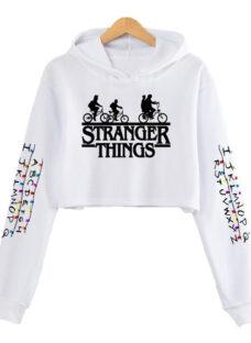 Buzos Estilo Cortos Con Capucha - Stranger Things