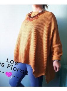 Maxi Sweaters Ancho Mostaza