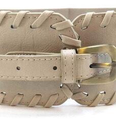 Cinturon Ancho Faja Corset Elastizado Cuero Ecologico Trendy