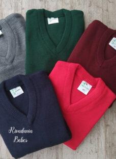 Sweater Pulover Colegial Escote En V Talle 6 Al 12